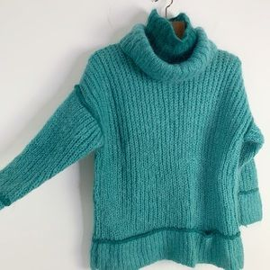 Vintage Mohair Oversized Chunky turtleneck sweater